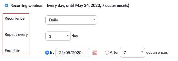 hướng dẫn sử dụng zoom webinar: lặp lại hội thảo trực tuyến trên zoom