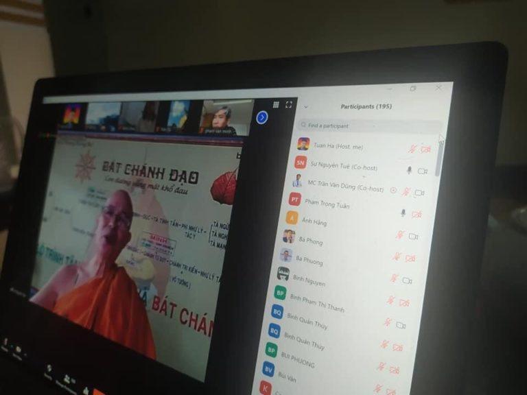 """Zoom tự hào đồng hành cùng khoá học Thiền Online """"Bát chánh đạo"""" 2 ngày 4 đêm của Gosinga"""