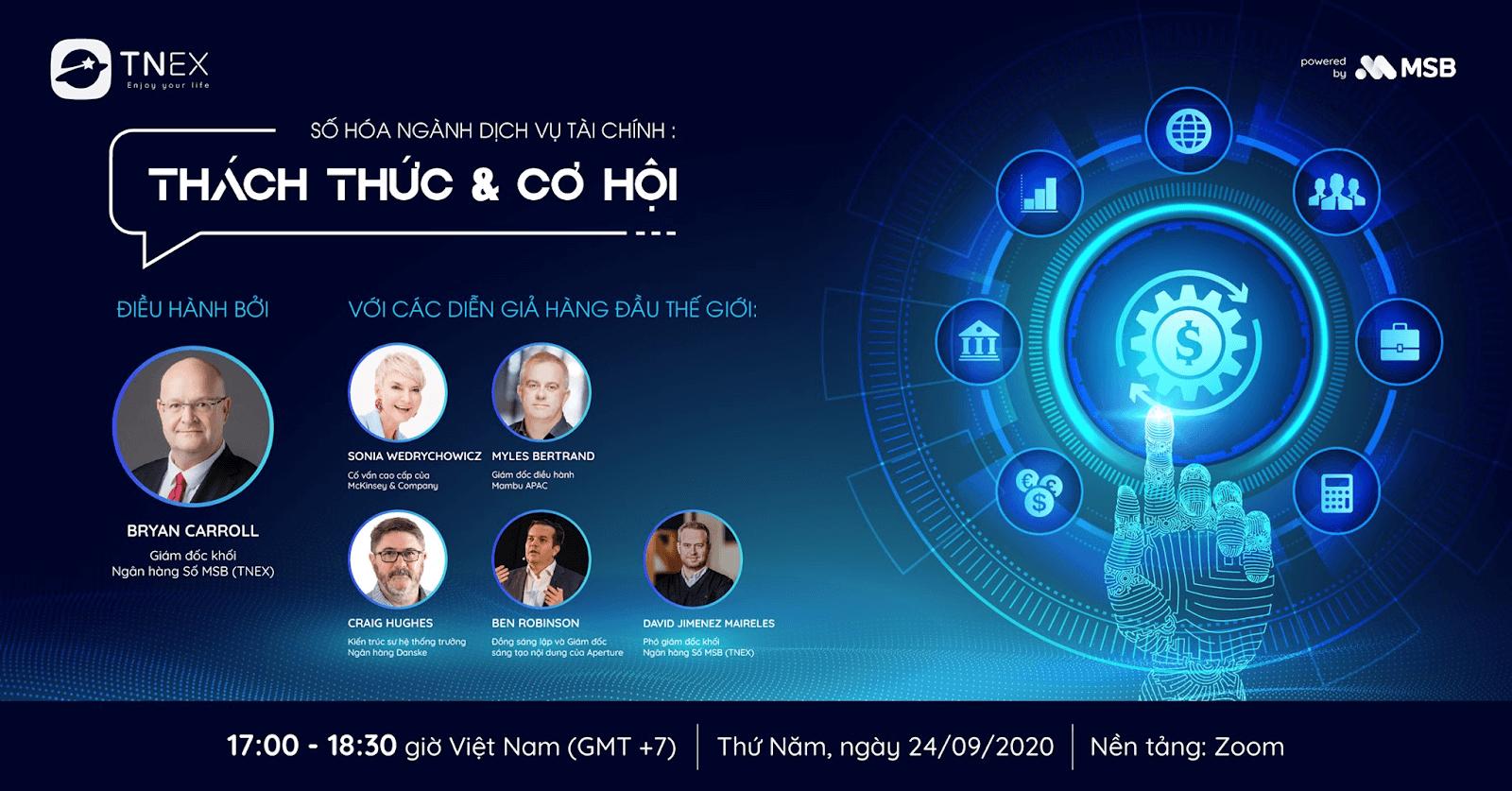"""TNEX lựa chọn Zoom Webinar hội thảo trực tuyến """"Số hóa ngành Dịch vụ Tài chính: Thách Thức & Cơ Hội"""""""